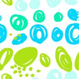 Seamless abstract pattern with multicolored spots stock illustration