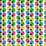 Seamless abstract pattern with a multitude of elem Royalty Free Stock Image