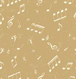 Seamless abstract pattern with music symbols stock illustration