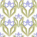 Seamless abstract pattern ornament geometric elements background Stock Image