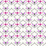 Seamless abstract pattern ornament geometric rhombus background Stock Images