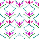 Seamless abstract pattern ornament geometric rhombus background Stock Image