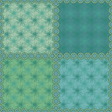 Seamless abstract pattern ornament  stylish texture. Seamless stylish pattern on green background with the lines in the frame Royalty Free Stock Photos