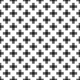 Seamless Abstract Pattern from Plus Cross Symbols. Seamless abstract pattern created from repetition of plus cross symbols Royalty Free Stock Photo