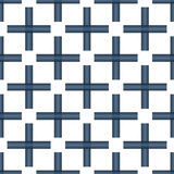Seamless Abstract Pattern from Plus Cross Symbols. Seamless abstract pattern created from repetition of plus cross symbols Stock Photo