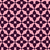 Seamless abstract pattern. Purple seamless pattern on pink background. Abstract geometric seamless pattern. Vector illustration Royalty Free Stock Photography