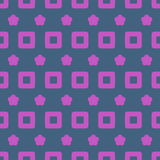 Seamless Abstract Pattern from Rectangles and Stars Stock Photo