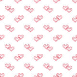 Seamless abstract  pattern with red lace hearts , white background, Stock Photo