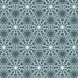 Seamless abstract pattern with repeating geometric ornament in ethnic style. Stock Photography