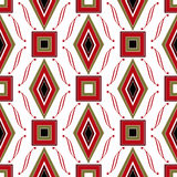 Seamless abstract pattern rhombuses and square texture geometric Royalty Free Stock Photos