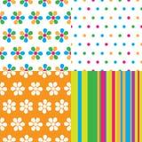 Seamless abstract pattern set Stock Photos