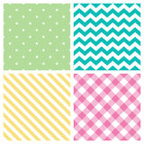 Seamless abstract pattern set Royalty Free Stock Photography