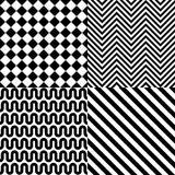Seamless abstract pattern set Stock Photography