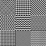 Seamless abstract pattern set Royalty Free Stock Photo