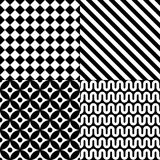 Seamless abstract pattern set Stock Images