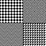 Seamless abstract pattern set Stock Photos