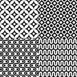 Seamless abstract pattern set Royalty Free Stock Image
