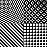 Seamless abstract pattern set Royalty Free Stock Photos