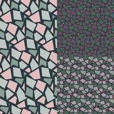 Seamless Abstract Pattern. Set. Rhombus royalty free stock photography