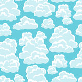 Seamless abstract pattern with sky and clouds Royalty Free Stock Photo