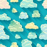 Seamless abstract pattern with sky and clouds.  stock illustration