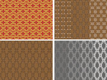Seamless abstract pattern with spirals Royalty Free Stock Photo