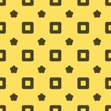 Seamless Abstract Pattern from Squares and Stars Stock Images