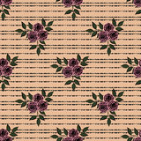 Seamless abstract pattern stylish texture on the beige stripe background. Seamless abstract pattern with flower pattern stylish texture on the beige stripe Royalty Free Stock Photography