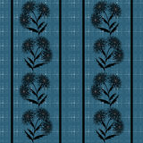 Seamless abstract pattern stylish texture on the blue specks background Stock Image