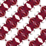Seamless abstract pattern with stylized hearts Stock Photo