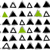 Seamless abstract pattern with triangles Stock Images