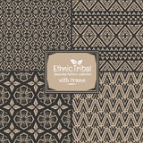 Seamless abstract pattern tribal ethnic style collection with frame Royalty Free Stock Photo
