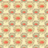 Seamless abstract pattern with unusual elements Stock Photos