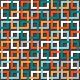 Seamless abstract pattern. Vector seamless abstract square wallpaper pattern Royalty Free Stock Photo