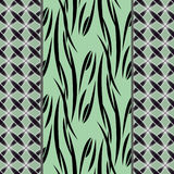 Seamless abstract pattern, vertical lines, drawing dots ornament stylish texture background Stock Photos
