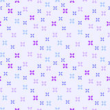 Seamless abstract pattern with violet crosses on light pink background. Vector illustration. Stock Image