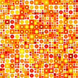 Seamless abstract pattern. Warm shades Stock Image