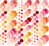 Seamless Abstract Pattern With Watercolor Bright Circles Stock Photo
