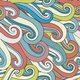 Seamless abstract pattern. Waves background. Vector illustration Royalty Free Stock Photo