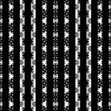 Seamless abstract pattern with white lines ornament  on black background Royalty Free Stock Photography
