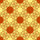 Seamless abstract pattern on yellow texture. Abstract  tribal ethnic yoga yantra background seamless pattern Stock Photography