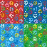 Seamless abstract patterns Stock Image