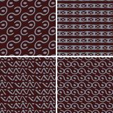 Seamless abstract patterns Stock Images