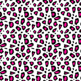 Seamless abstract pink animal patterns Stock Photography