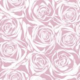 Seamless abstract pink background with roses Royalty Free Stock Image
