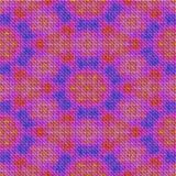 Seamless abstract pink knitted texture with flower pattern Stock Photo