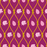 Seamless abstract pink rose pattern Stock Photos