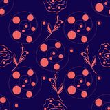 Seamless-abstract-purple-background-of-pink-circles-in-a-spiral royalty free illustration