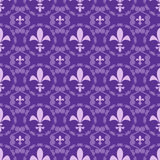 Seamless abstract purple background of the royal lilies Stock Photos