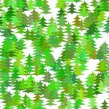 Seamless abstract random pine tree pattern background - vector Christmas holiday decoration graphic design Stock Photography